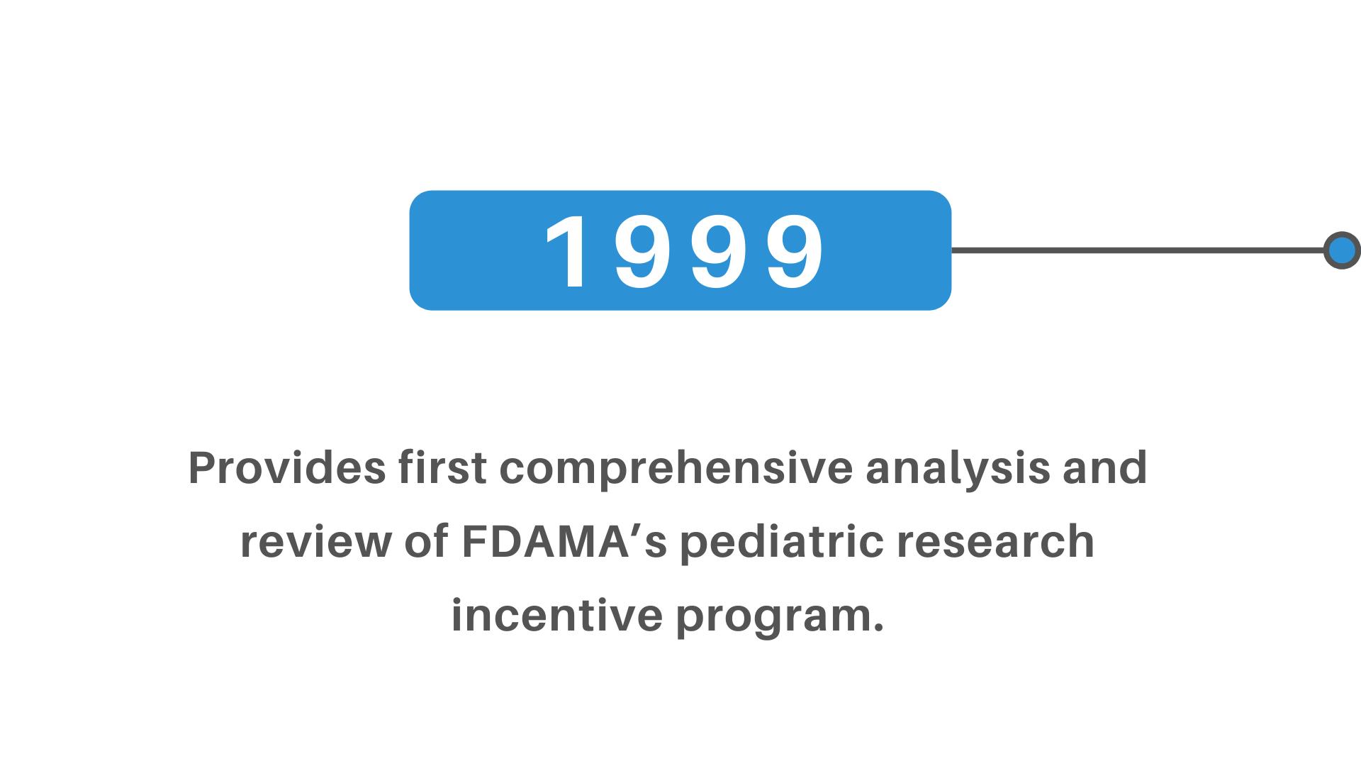 FDAMA pediatric research incentive program