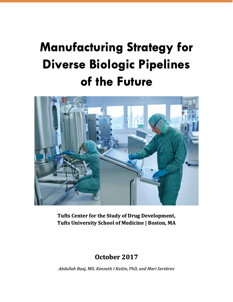 MANUFACTURING STRATEGY FOR DIVERSE BIOLOGIC PIPELINES OF THE FUTURE
