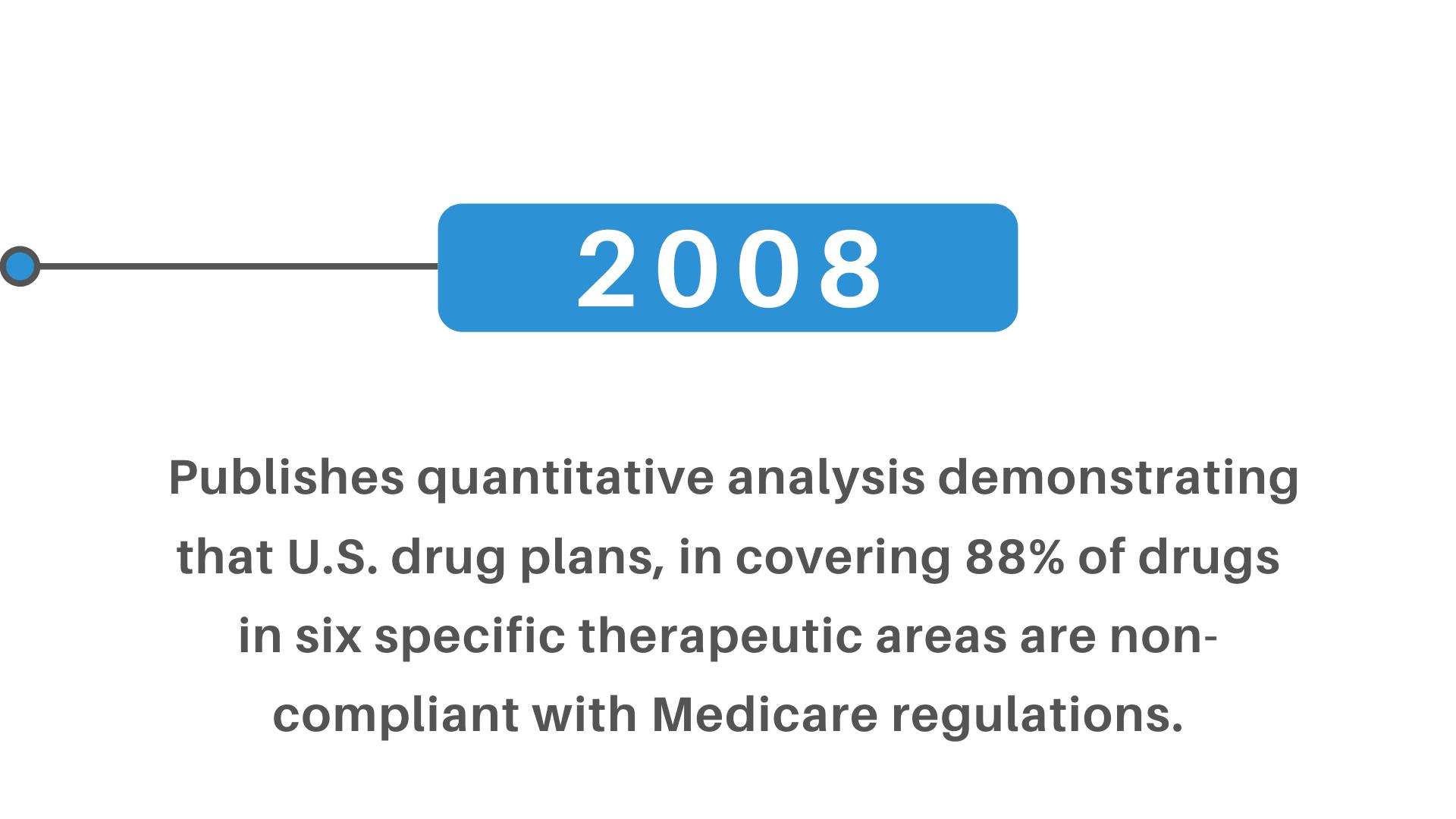 US drug plans 88% therapeutic non-compliant medicare regulations