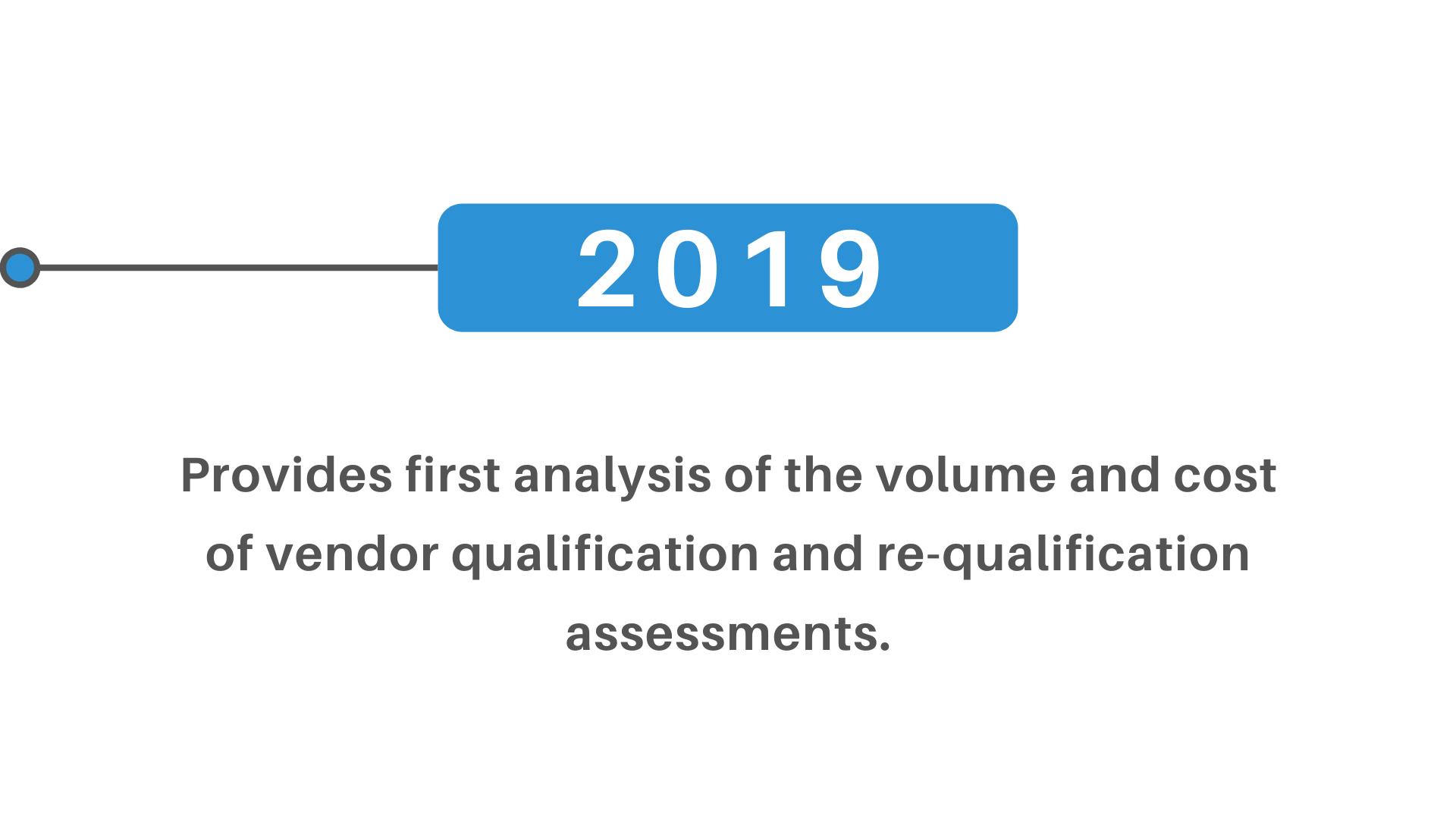 volume cost vendor qualification re-qualification